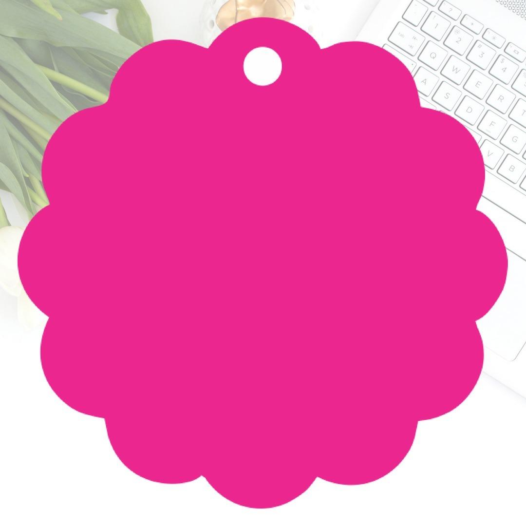 Tag Flor Rosa Pink