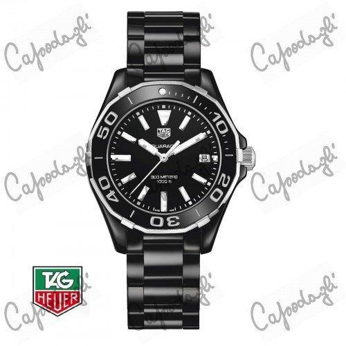 tag heuer aquaracer señora 300m 35mm negro reloj de cerámic