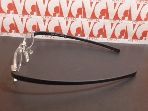 tag heuer armação óculos · armação para óculos de grau tag heuer silicone  preta th-5069 c884f4b7aa