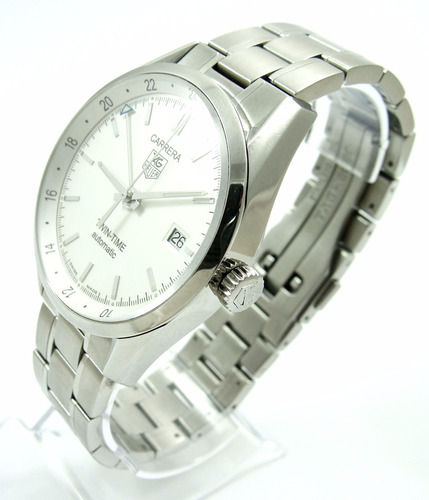 tag heuer carrera cal. 7 twin-time auto gmt ref wv2116-0 !