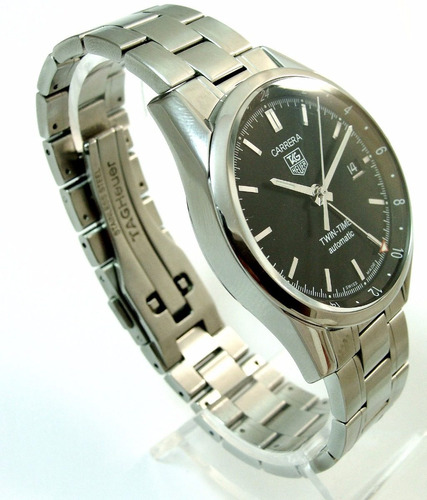 tag heuer carrera cal.7 twin-time gmt, wv2115 imperdível !