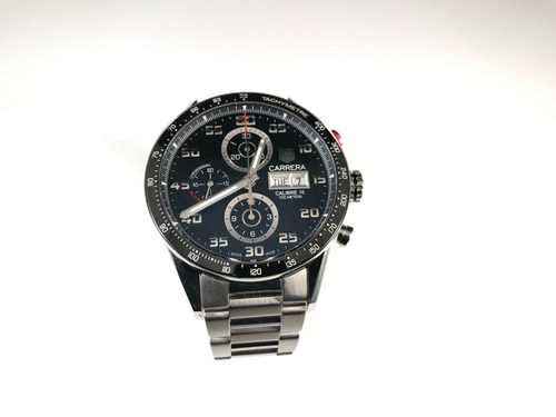 tag heuer carrera chronograph men's watch in stainless steel