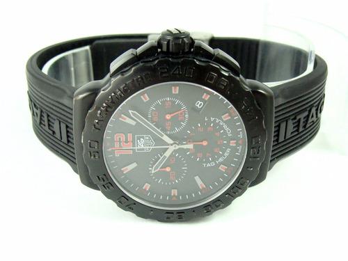 tag heuer formula 1 crono 42 mm preto e vermelho cau111a !