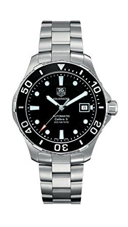 tag heuer men's aquaracer calibre 5 stainless steel black