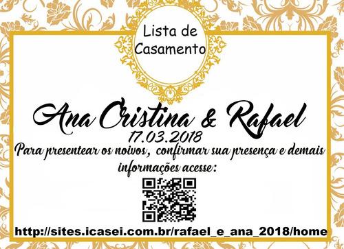 tag para lista de presentes de casamento - 100 unidades