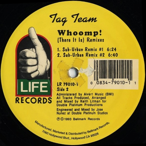 tag team   12 single  whoomp there it is (remixes)