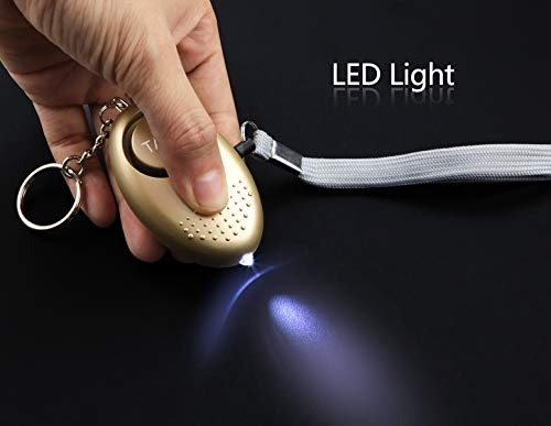 5 Pack Emergency Personal Alarm Keychain 140dB Safe Self-Defense with LED Light