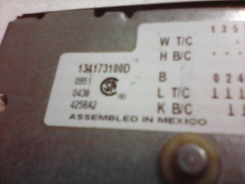 taimer de lavadora frigidaire 134173100d