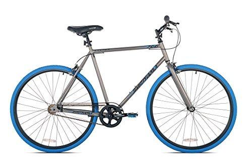 takara sugiyama flat bar fixie bike, gris / azul, large /...