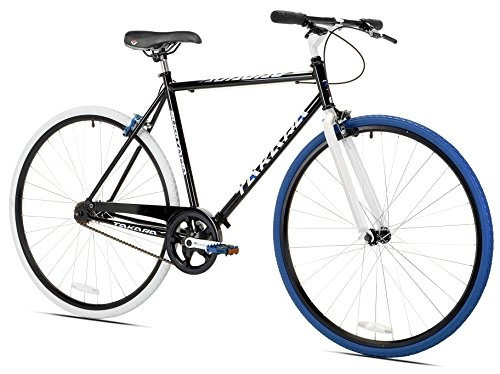 takara sugiyama flat bar fixie bike, negro / azul, large...