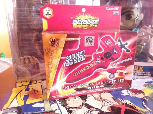 takara tomy beyblade burst digital espada lanzador rojo