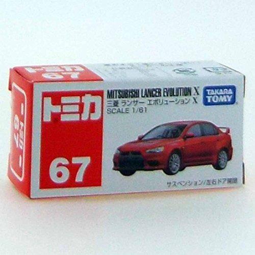 takara tomy mitsubishi lancer evolution x dark red #067-7