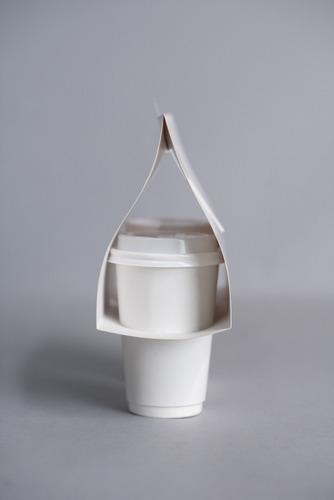 take away arnés p/ 2 vasos - bauletto - x 50 unidades