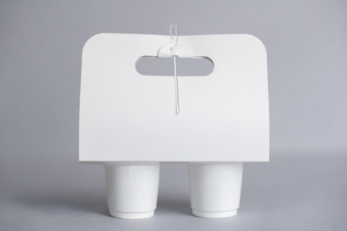take away arnés porta 2 vasos (x 100 u.) - 105 bauletto