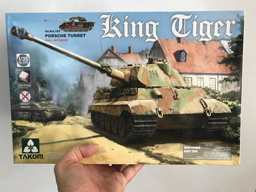 takom 1:35 king tiger porsche turret full interior