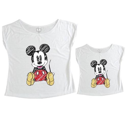 tal mãe, tal filha t-shirt mickey sentado