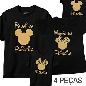 33ad04edc94616 Tal Mãe Tal Pai Tal Filha(o), Mickey Minie, Kit C/ 5 Peça