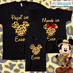 b0970ddef8d1f4 Tal Mãe Tal Pai Tal Filha(o), Mickey Safari Minnie, Kit C/