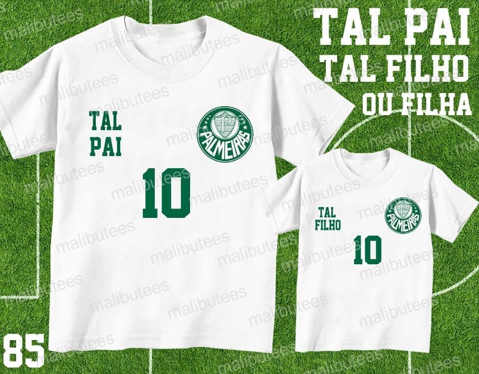 388dea89e9250 Tal Pai Tal Filho Camiseta Palmeiras Personalizada Kit Com 2 - R  59 ...