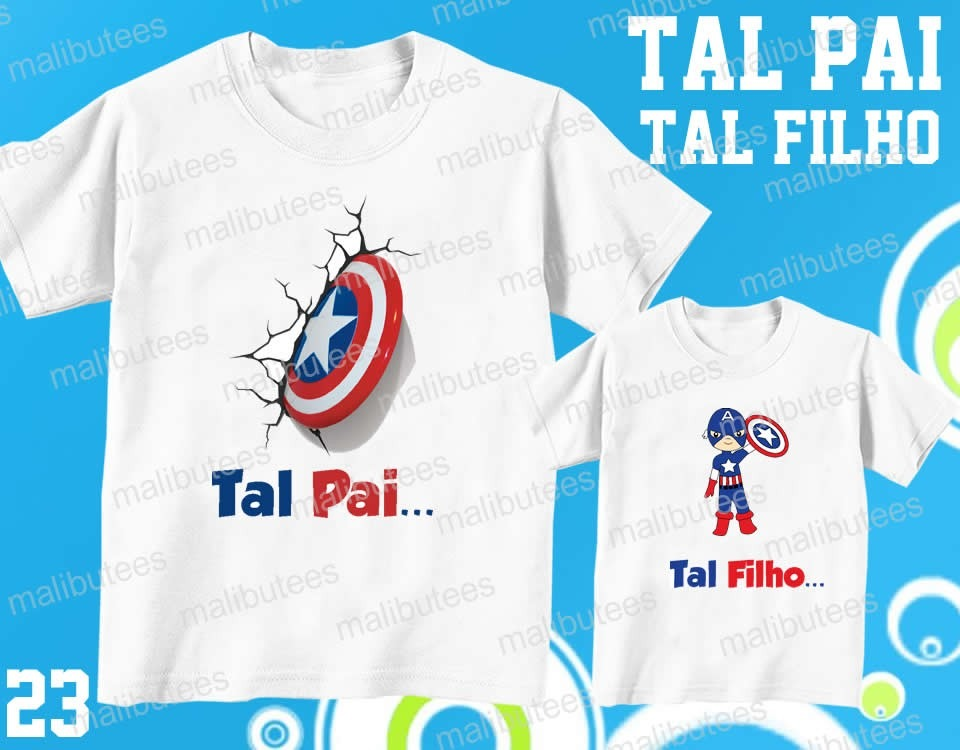 ... Tal Pai Tal Filho Camiseta Super Man Cut Personalizada Kit 2 - R 69 . 8ef5ae6559bcd