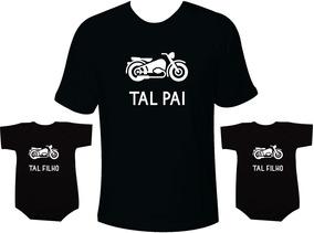 cf9577fd9ad50b Tal Pai Tal Filho Moto Camisetas Iguais 2 Filhos