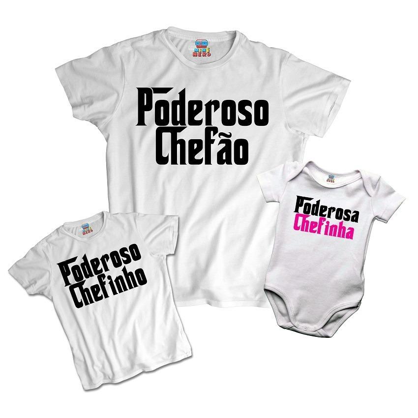 698b60669 Tal Pai Tal Filhos Poderoso Chefão Chefinho Kit 3 Camisetas - R  89 ...