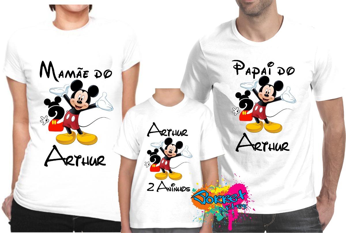 0ed829e533e432 Tal Pai Tal Mãe Tal Filho(a) Para Festa Mickey A3 Kit 3 Pçs