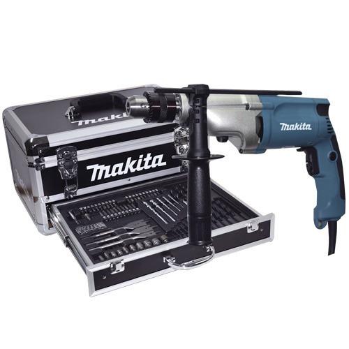 taladro 720w + maleta + kit brocas/puntas makita hp2050hx1
