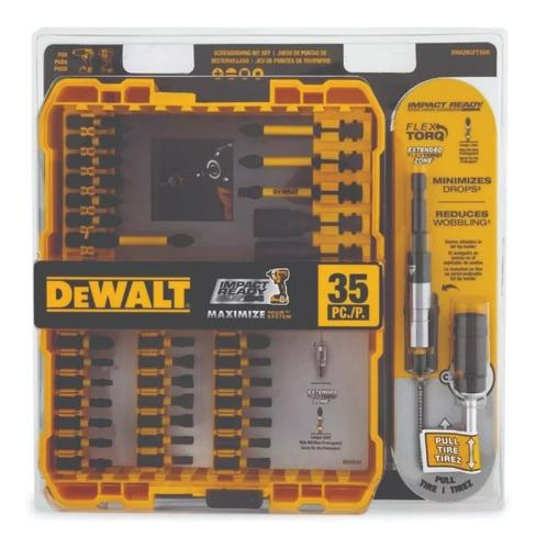 taladro atornillador 12v dewalt dcd700c2 + juego 35 puntas