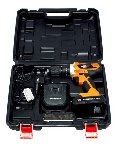 taladro atornillador 18v ion-litio nebraska nemebta2013 13mm