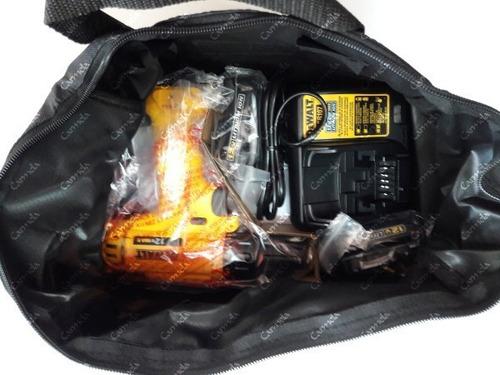 taladro atornillador 2 baterías litio 12v dewalt 3 años gtía