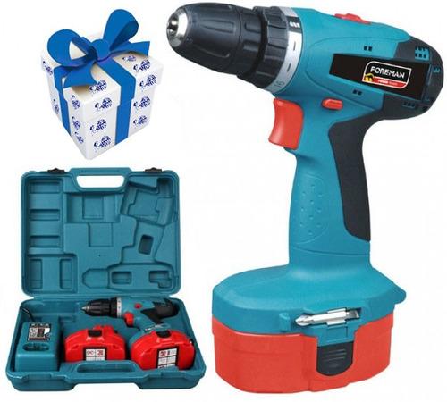 taladro atornillador a bateria 18v 10mm foreman + regalo !