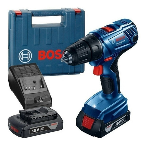 taladro atornillador batería bosch gsr 180-li + guantes