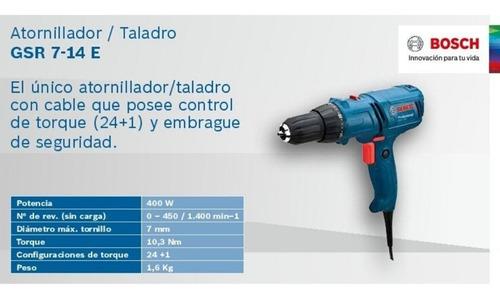 taladro atornillador bosch b1 gsr  7-14e