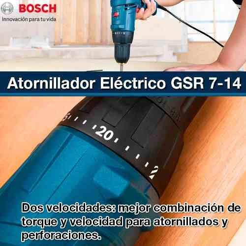 taladro atornillador bosch gsr 7-14 e electrico 400w tecnofa