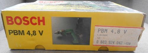 taladro atornillador bosch pvm 4,8v -  bateria nicad