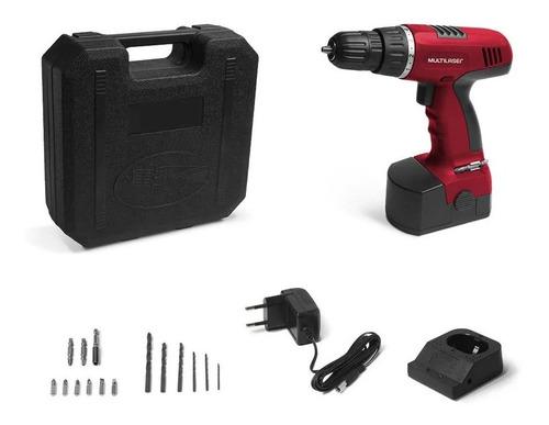 taladro atornillador inalámbrico a batería + kit valija