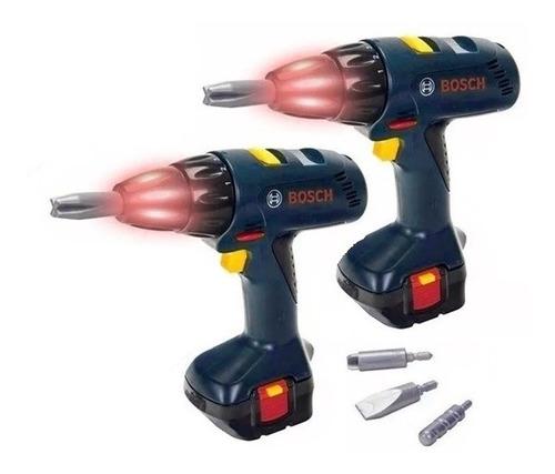 taladro atornillador juguete bosch luz sonido original 2unid