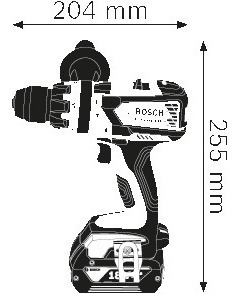 taladro atornillador percutor bosch gsb 18ve-ec s/carbones