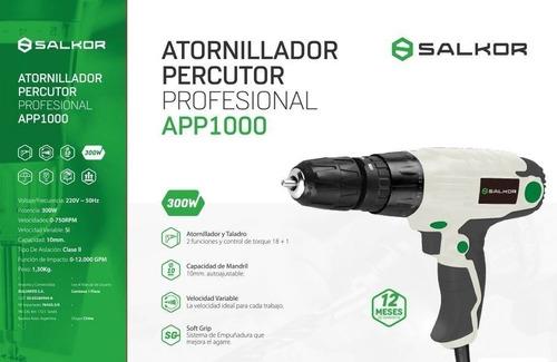 taladro atornillador percutor electrico salkor app1000 300 w