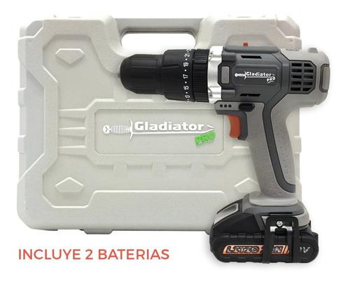 taladro atornillador percutor recargable 13mm con 2bat litio
