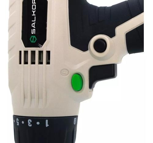 taladro atornillador percutor salkor app1000 prof. 10mm 300w