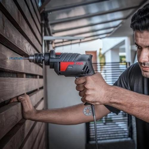 taladro atornillador percutor skil 6604 570 watts electrico vel variable 10mm madera acero hormigon