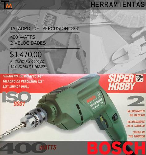 taladro bosch - combo super hobby - 400 watts/2 velocidades