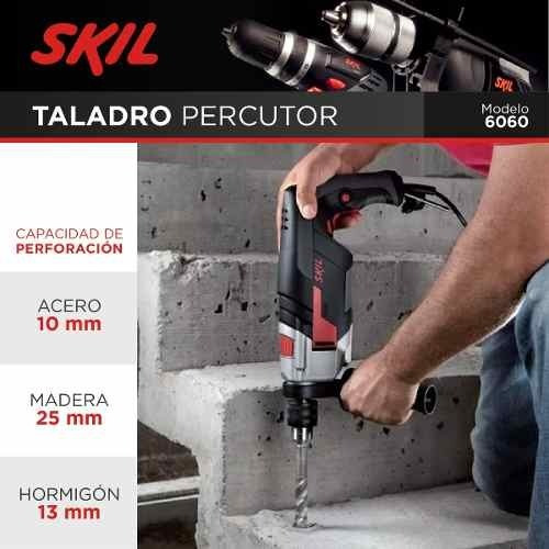 taladro con percución 6060jb skil 700w mandril 13mm
