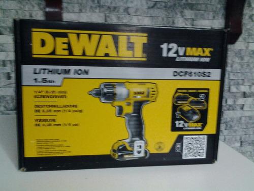 taladro destornillador dewalt 12 volt dcd 710s2