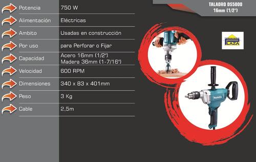 taladro eléctrico de fuerza industrial 750w makita 16mm