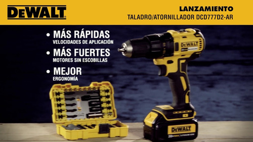taladro inalambrico 20v dewalt dcd777d2 dewalt