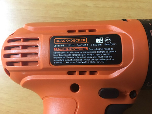 taladro inalambrico black&decker 12 v
