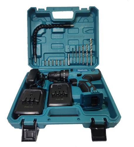 taladro inalambrico de 21v con percutor 2 vel y 2 baterias